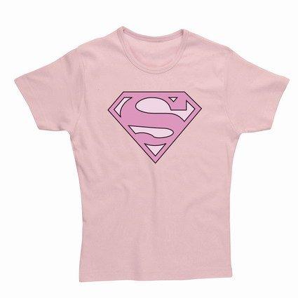 T-Shirt (Donna-S) Superman Skinny Pink