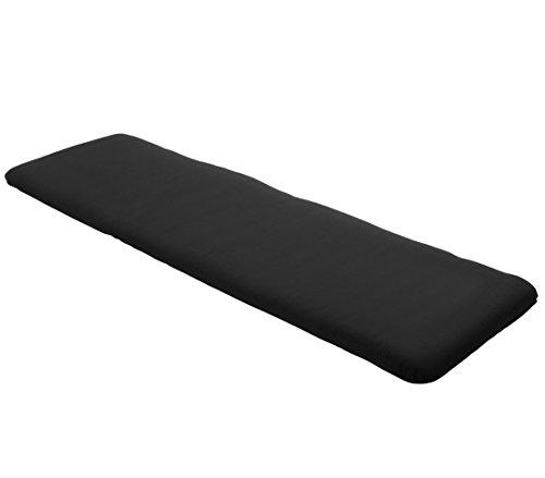 Dehner Bankauflage uni 3-Sitzer, ca. 150 x 45 x 6 cm, Polyacryl, schwarz