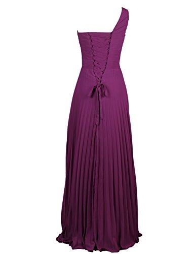 Dressystar Robe femme,Fourreau, Robe de demoiselle d'honneur/soirée, une bretelle, en Mousseline Blush