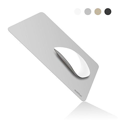 Mauspad Gaming, multifun Mousepad Wasserdicht Mouse Pad Ultra Dünn Mausmatte rutschfest Mouse Mat, Schreibtischunterlage für Computer Office Büro Laptop, 26*20*0.04cm Silber