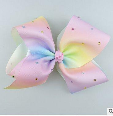 Arpoador Schleife Band Handgefertigt Rainbow Diamant Schleife Haarspange Haar Zubehör a (Diamant-bogen-haar-clip)