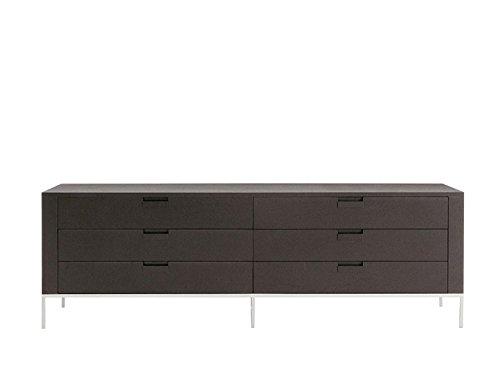 Afydecor Wooden Cabinet with Six Door - Brown