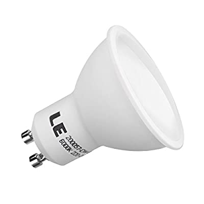 LE 5W GU10 MR16 LED Bulbs, 60W Halogen Bulbs Equivalent, 420lm, Daylight White, 6000K, 120° Beam Angle, Recessed Lighting, Track Lighting, LED Light Bulbs