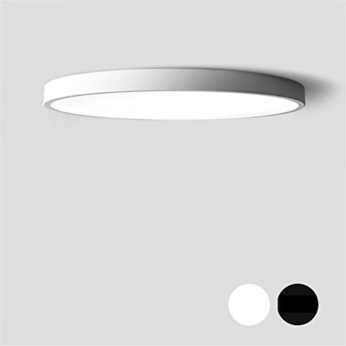Ultraflache LED Deckenbeleuchtung Bügeleisen PVC Deckenleuchten Kronleuchter für die Halle moderne Deckenleuchte hoch 5 cm für Wohnzimmer Esszimmer Schlafzimmer Flur Küche Kinderzimmer Weihnachten Danksagung Home Deko Leuchten, Weiß - Weiß - Durchmesser 50 cm