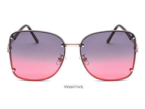 CXYGHXG Unisex - übergroße rahmenlose Sonnenbrille, transparente Linse UV400 (Color : B)