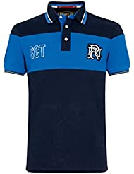 Front Up Rugby twenty15polo de manga corta de los hombres camiseta, hombre, Twenty15 Short Sleeve, Z113 Navy/Light Blue, large