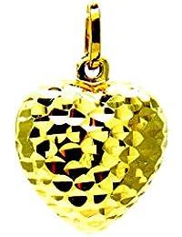 cdc3fab09311 Pegaso joyas – Colgante de Oro Amarillo De CT – Colgante de Corazón  diamantado abombado –