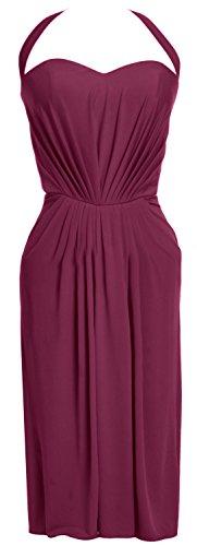 MACloth - Robe - Crayon - Sans Manche - Femme rouge bordeaux