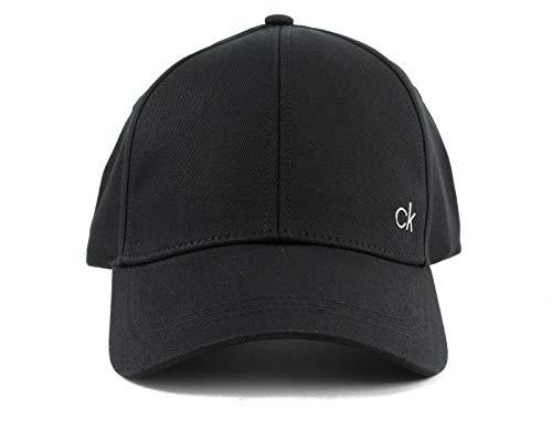 Calvin Klein Damen Baseball Cap CK Metal, Schwarz (Black 001), One Size (Herstellergröße:OS)