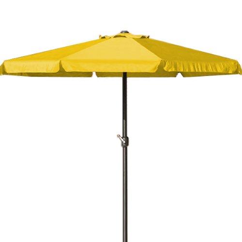 Deuba Parasol Jaune - Ø 330cm - Protection Soleil - avec manivelle - Jardin - Terrasse