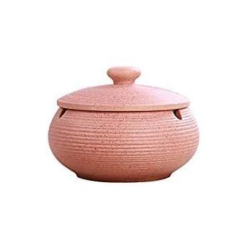 Farbe : A YZPYHG Marokkanischer Aschenbecher Handgefertigter Aschenbecher aus Keramik f/ür den Innenbereich mit 3 Haltern f/ür den Innenbereich