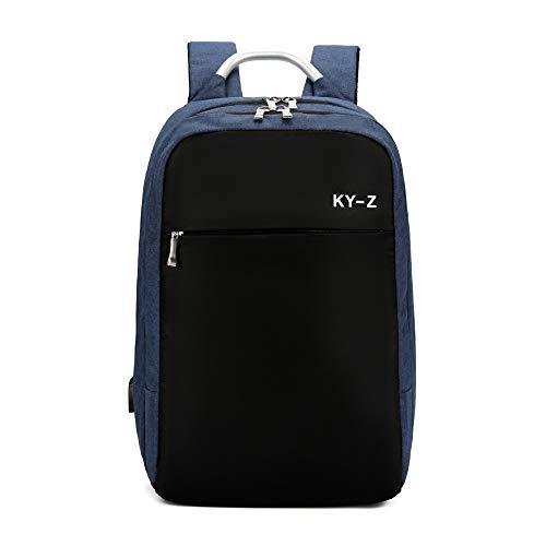 Zaino porta computer in cotone tinta unita nuovo zaino business color blu