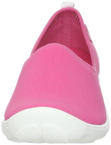Crocs Duet Busy Day Skimmer, Mocassins femme Hot Pink/White