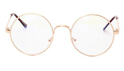 Hippolo Klassische Brille Metallgestell Brillenfassung Aviator Vintage Brille Dekobrillen...