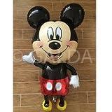 Galda. Globo Mickey mouse gigante para cumpleaños y fiestas preparando para helio o aire. 63 cm.