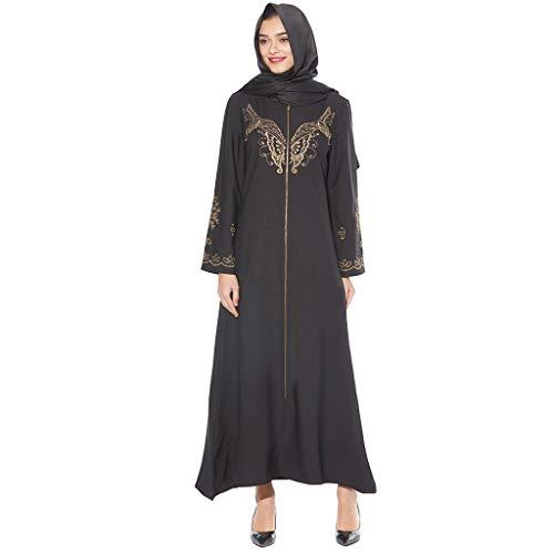 WUDUBE Mode Frauen Muslimische Robe, Islamisches Kostüm Maxi Muslimisches Kostüm