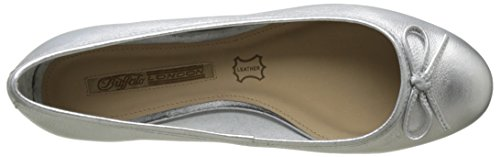 Buffalo London Zs 2590-16 Vegetal Leather, Ballerine Donna Argento (Silver)