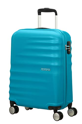 American tourister wavebreaker ,spinner s (55 cm - 36 l), bagaglio a mano, blu (summer sky)