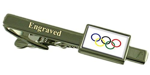 Select Gifts Olympische Bewegung Flagge graviert personalisierten Krawattenclip