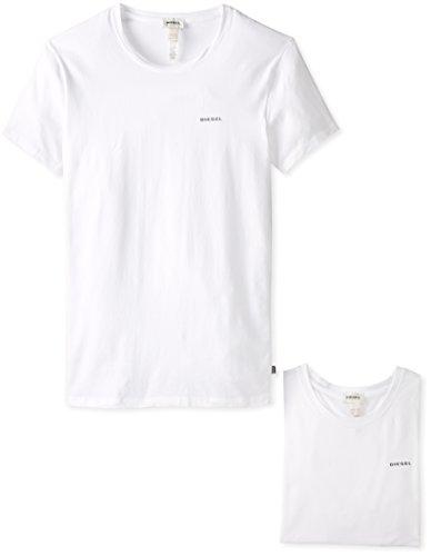 DIESEL Herren UMTEE-RANDAL T-Shirt, weiß (Blanco 1), Gr. L, 2er Pack
