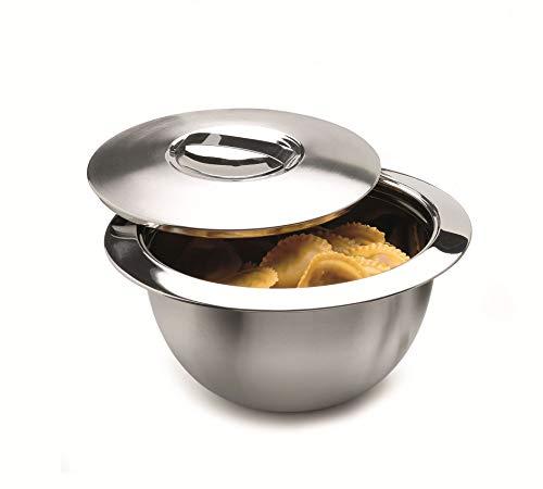 Weis 24033 Edelstahl Thermo Küchenschüssel Schüssel mit Deckel 33cm 5 Liter
