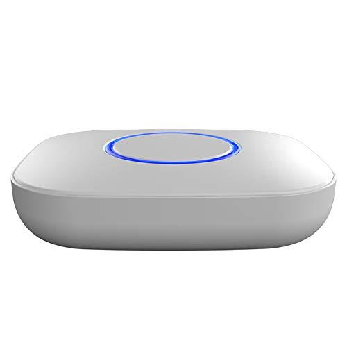 ZUKN Coche Inteligente purificador de Aire portátil Auto ambientador ionizador oxígeno Bar Cigarrillo Humo Olor Olor eliminador,White