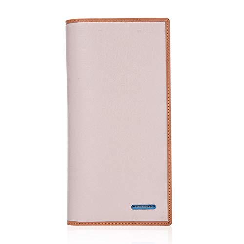 Grapfopk Portefeuille de style long en cuir PU multi-cartes Slots Money Clutch Bag Wallet (couleur blanche)