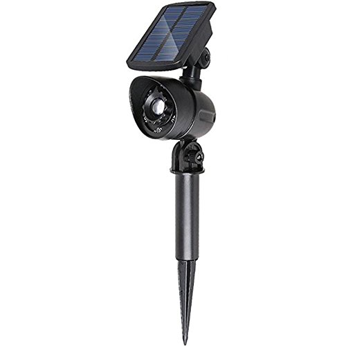 HIANG256 Modern Lawn Light Solar Powered Ultra Bright Weather Resistant Wireless Light L,andscape Path Yard Lamp(Black)
