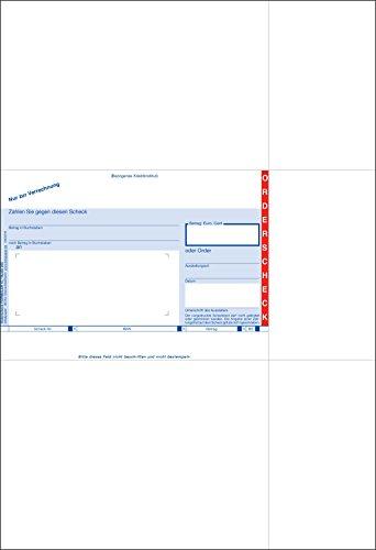 Bits&Paper BP0115 - SEPA-Orderschecks/Scheckvordruck mit IBAN Feld