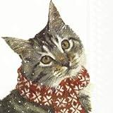 Motiv-Servietten/Katzen-Serviette