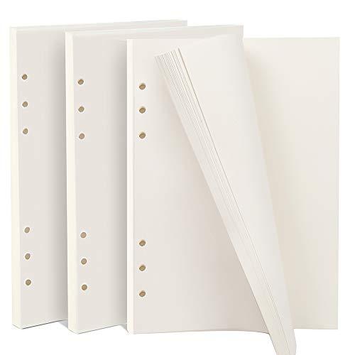 teenitor 3Pack A5, blanko, nachfüllbar Filler Papier, 21x 14,2cm Binder Planer Refills Papier, 6Loch fügt 135Blatt/270Seiten für Fotoalben Zeitschriften Gemälde Tägliche Planer DIY Projekte - 6x6 Binder
