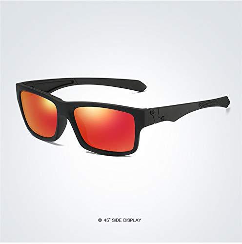 LKVNHP Neue Hochwertige Polarisierte Sonnenbrille Männer Fahren Shades Männlichen Sonnenbrille Für Männer Retro Günstige Frauen MarkendesignerSchwarz-Orange