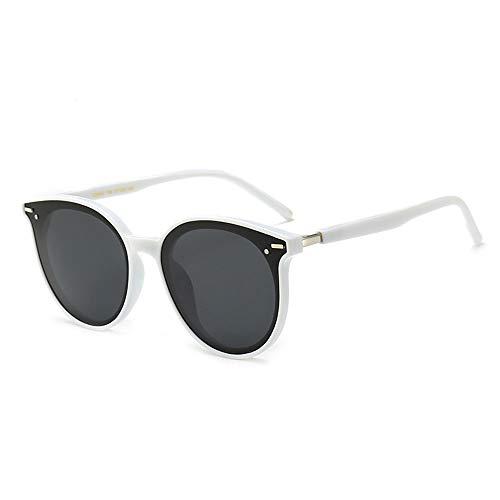 SKX Polarisierte Sonnenbrille cat Eye Sonnenbrille Sonnenbrille mit Rahmen, funktionale polarisation, uv Schutz, augenreizung reduzieren, augenermüdung lindern,White