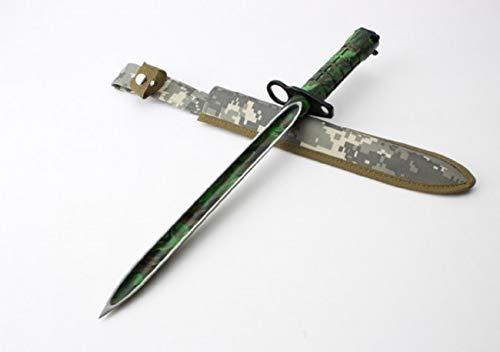seltenes extremst *3-Klingen* AK-47 CCCP Camouflage Bajonett - Kampfmesser - Jagdmesser - Hirschfänger - Saufänger - Saufeder - Survival - Outdoor - Messer - Hunting-Knife !Vorsicht Spitz! -