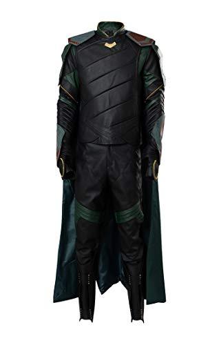 Damen Kostüm Loki - Manfu Thor 3 Ragnarok Loki Outfit Full Set Cosplay Kostüm S