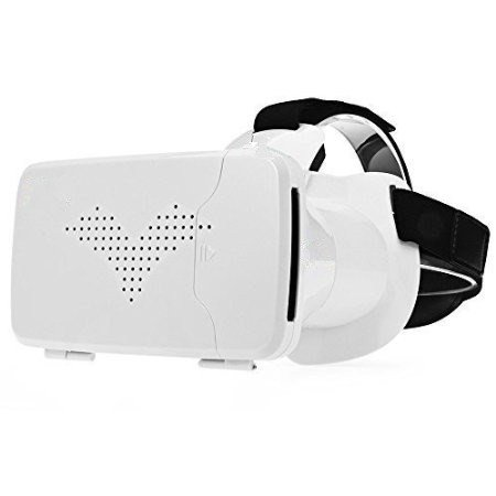 "Price comparison product image 3D VR Glasses Virtual Reality VR BOX 2nd Google Cardboard Headset 3d Movies and Games Viewer for iPhone 6/6 Plus,Android Samsung S6/S7/S6 edge/S7 edge,LG,Huawei, within 6.0"" SmartPhone"