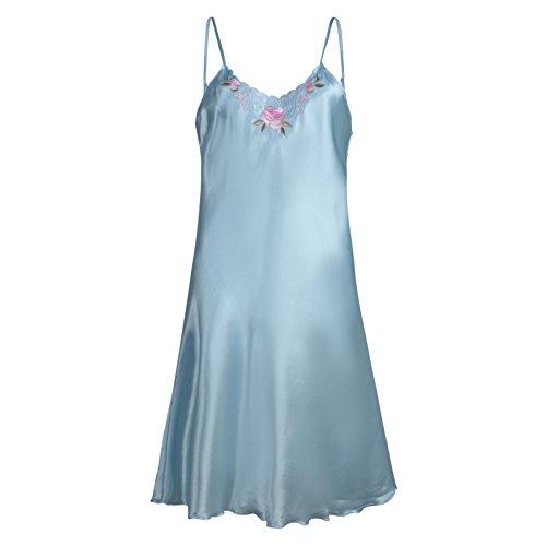 ladies-satin-nightie-womens-silky-chemise-nightdress-floral