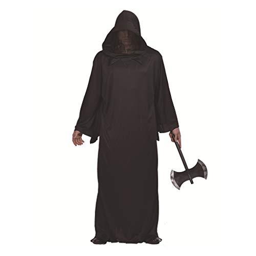 Der Robe Rote Priester Kostüm - Wusfeng Priester Robe Halloween Cosplay Kostüm Herren Cape Mantel Kostüm Tag der Toten (Color : Black, Size : L)