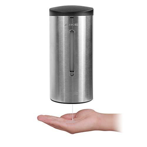 AIKE AK1205 Automatischer Seifenspender Wandmontage Edelstahl mit Infrarot Sensor für Küche und Badezimmer, Große 700 ml Einstellbar, Gebürstet