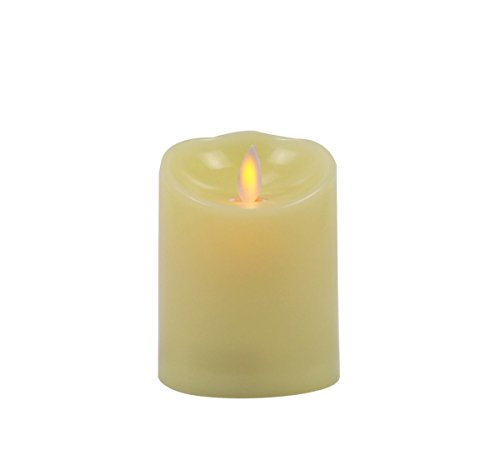 @Home Moving Flame Plastic LED Candle (7.5 cm x 7.5 cm x...
