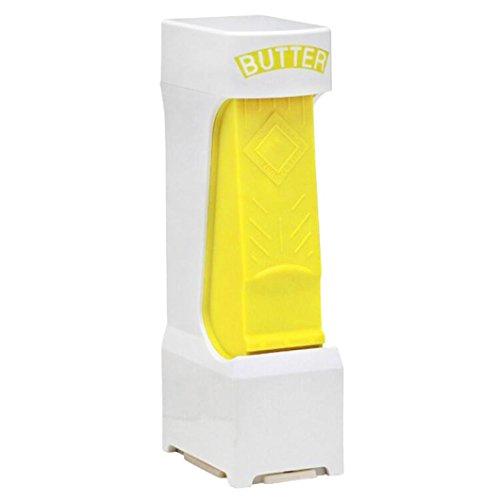 Igemy Butter Käse Cutter Scheiben Slicer One Click Squeeze Serves Stores Küche Werkzeug (Yellow)