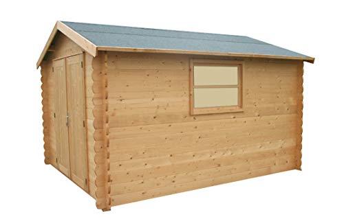 Alpholz Gartenhaus CHIMAY aus Fichten-Holz | Gartenhütte mit Dachpappe | Geräteschuppen groß...