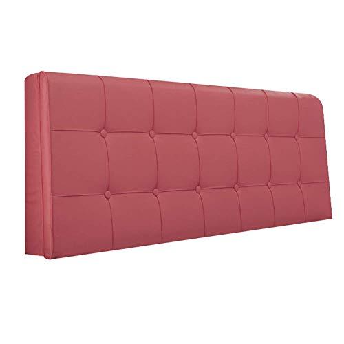 Cuscini jxq schienale in poliuretano tessuto tappezzeria in pelle artificiale facile da rimovibile lavare lungo posteriore (color : pink, dimensione : 150 * 5 * 58cm)
