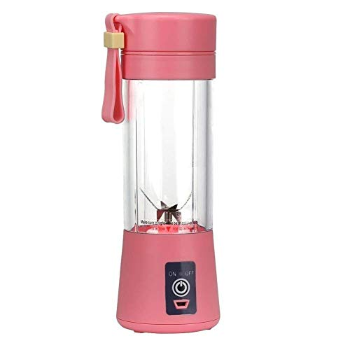 QYLT Licuadora PortáTil USB, Mini Batidora Juice Blender Juicer Cup Fruta, Batido, Mezcla De Alimentos para BebéS con Motor Potente, 380 ML 6 Cuchillas, Libre De BPA