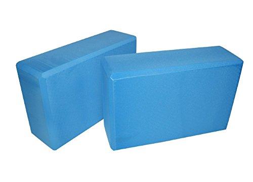 Runzone Yoga-Block 2er-Set Yogablock,blau (Yoga-set)