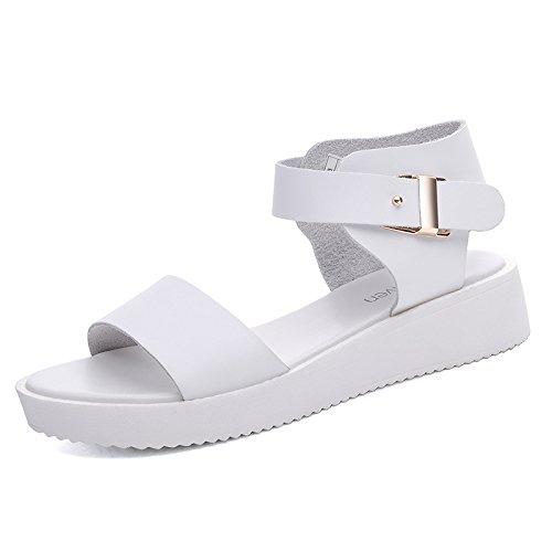ZPPZZP La sig.ra sandali di spessore studenti del college style 36EU