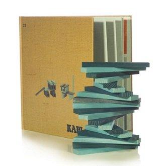Kapla 9000105 Holzplättchen 40er Box Buch, Blau - 6