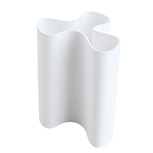 Clara Vase (koziol Vase Clara L, Kunststoff, weiß, 11.5 x 12.5 x 16.6 cm)