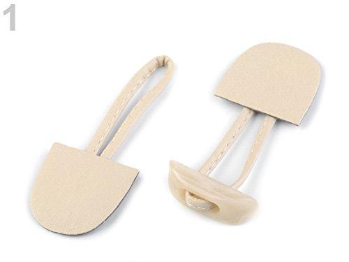 knopf Knopf Rohling mit Verschluss (klein) beige *NEU (Knebel-verschlüsse)