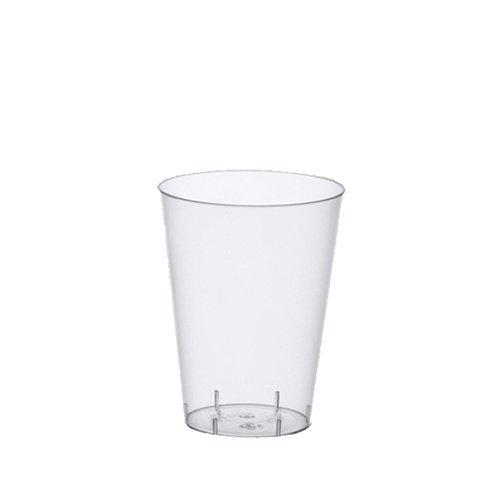 Papstar Trinkbecher/Plastikbecher (50 Stück) 0.2 l, Ø 7.5 x 9.7 cm, glasklar, transparent, aus Polystyrol, für Ausflüge und Feiern wie Grillpartys und Wanderungen, 12162